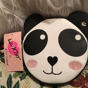 NWT Betsey Johnson Panda Wristlet